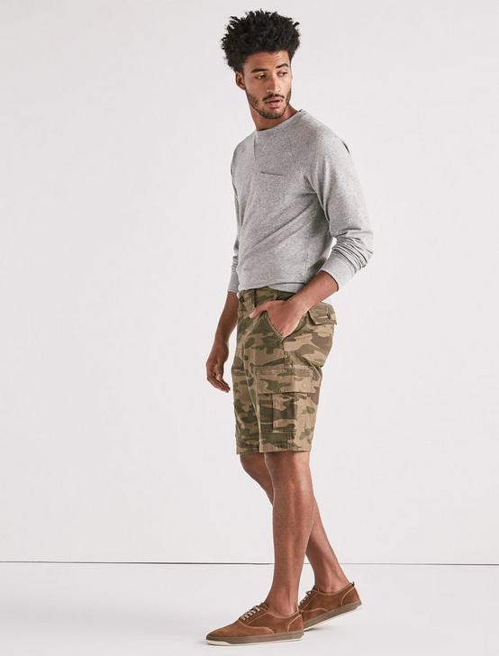 Stretch Sateen Cargo Short, CAMO COMBO MULTI, productTileDesktop