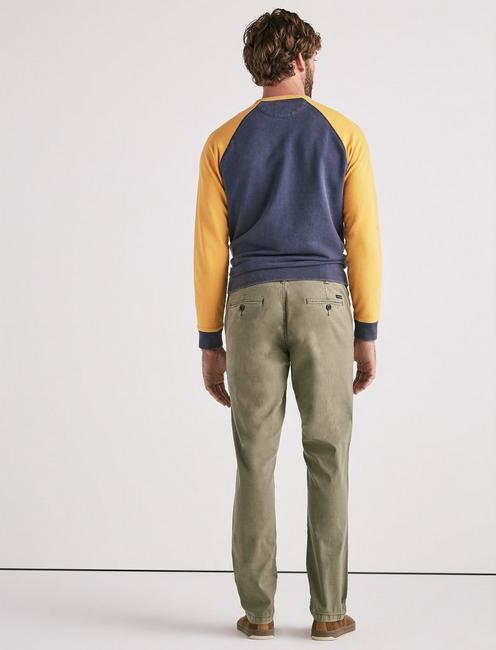 410 Stretch Sateen Chino, DEEP LICHEN GREEN