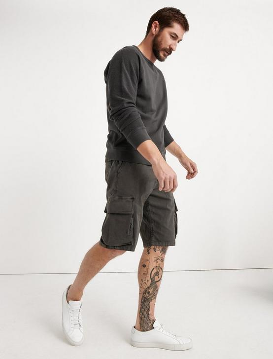 Saturday Stretch Cargo Short, RAVEN, productTileDesktop