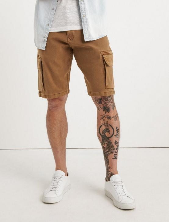 Saturday Stretch Cargo Short, PALE ALE, productTileDesktop