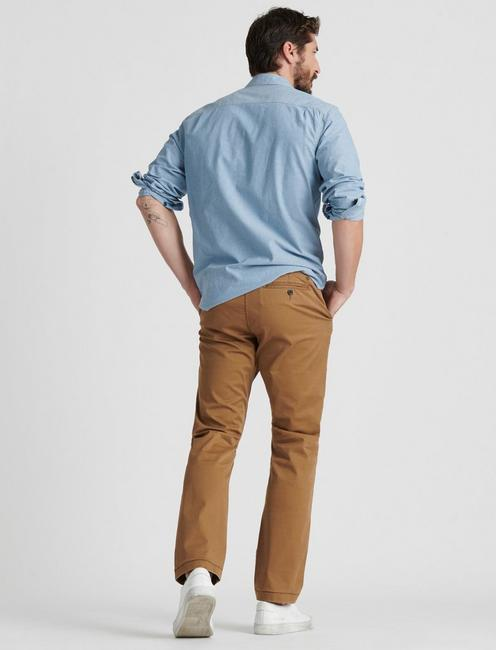 410 ATHLETIC SLIM COOLMAX ALL SEASON TECHNOLOGY CHINO, BUZZARD BROWN