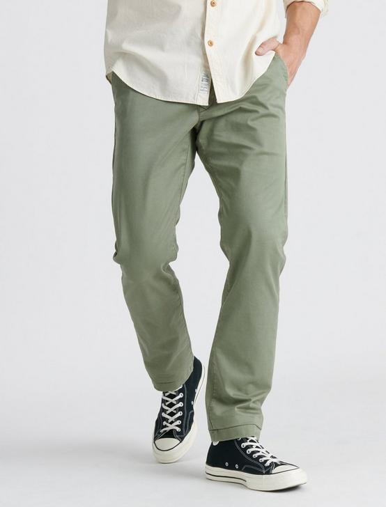 410 ATHLETIC SLIM COOLMAX ALL SEASON TECHNOLOGY CHINO, DEEP LICHEN GREEN, productTileDesktop