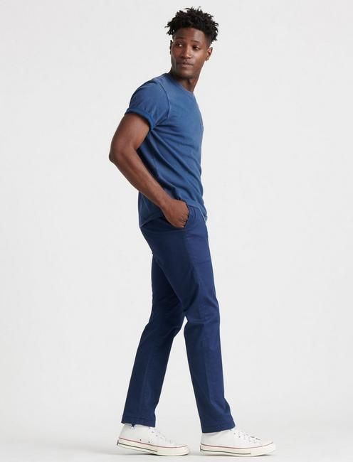 410 ATHLETIC SLIM COOLMAX CHINO, BLACK IRIS