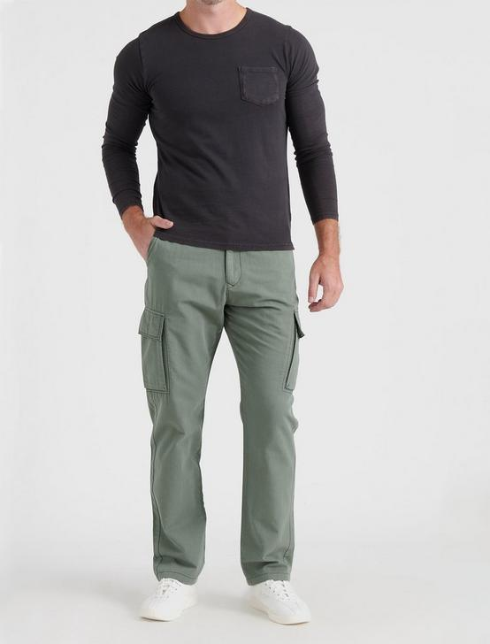 RIPSTOP CARGO PANT, BLEACHED GREEN, productTileDesktop