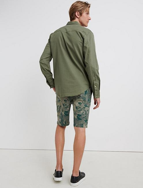 SATURDAY STRETCH 10'' LEAF SHORT, LEAF CAMO MULTI