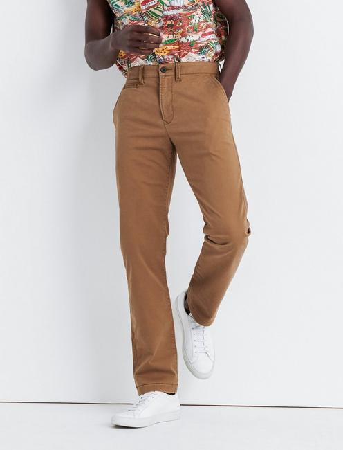 121 SLIM COOLMAX STRETCH CHINO PANT, BUZZARD BROWN