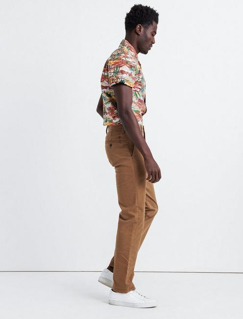 121 SLIM COOLMAX CHINO, BUZZARD BROWN