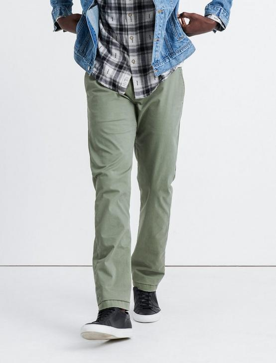 121 SLIM COOLMAX ALL SEASON TECHNOLOGY STRETCH CHINO, DEEP LICHEN GREEN, productTileDesktop