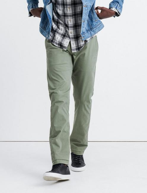 121 SLIM COOLMAX STRETCH CHINO PANT, DEEP LICHEN GREEN