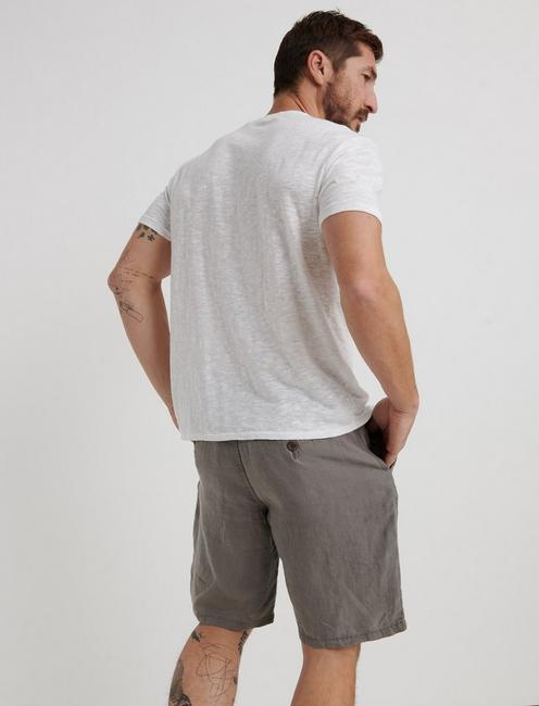 LAGUNA LINEN SHORT, #1631 CHARCOAL GRAY