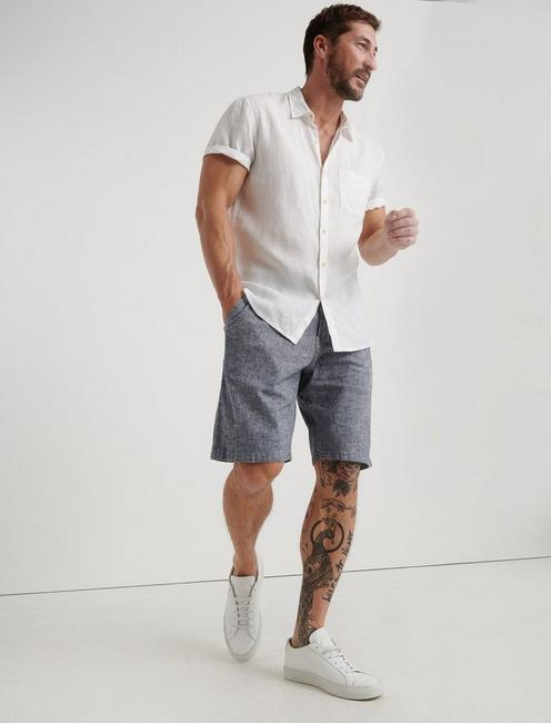LAGUNA LINEN SHORT, CHAMBRAY