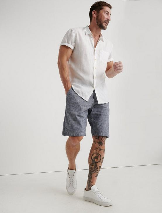 LAGUNA LINEN SHORT, CHAMBRAY, productTileDesktop