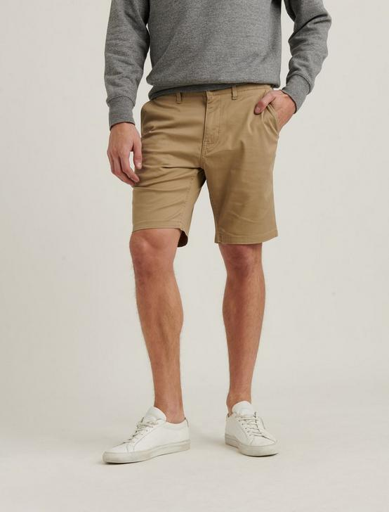 SATURDAY STRETCH FLAT FRONT SHORT, MONTYS KHAKI, productTileDesktop