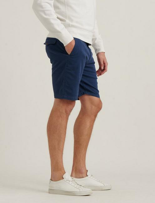SATURDAY STRETCH FLAT FRONT SHORT, CLANCY BLUE