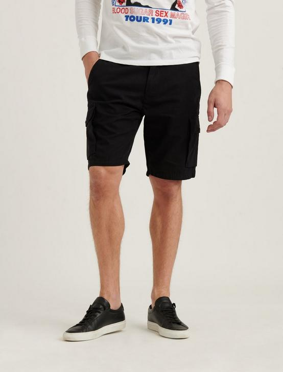 SATURDAY STRETCH CARGO SHORT, BLACK ONYX, productTileDesktop