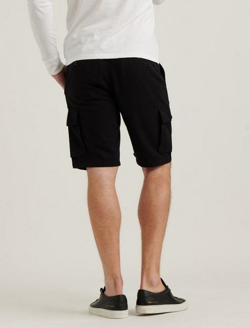 SATURDAY STRETCH CARGO SHORT, BLACK ONYX