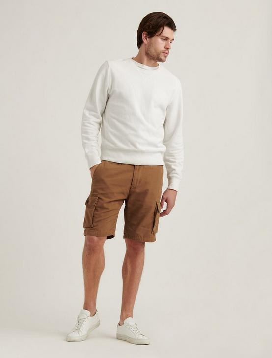 SATURDAY STRETCH CARGO SHORT, BUZZARD BROWN, productTileDesktop