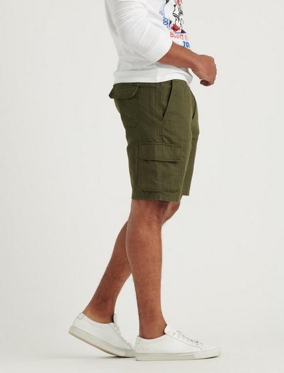 LAGUNA LINEN CARGO SHORT, FOREST NIGHT, productTileDesktop