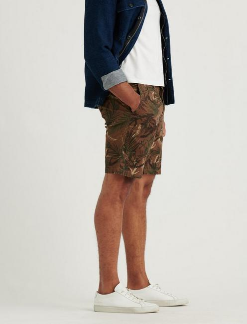 SATURDAY STRETCH FLAT FRONT SHORT, PALM PRINT