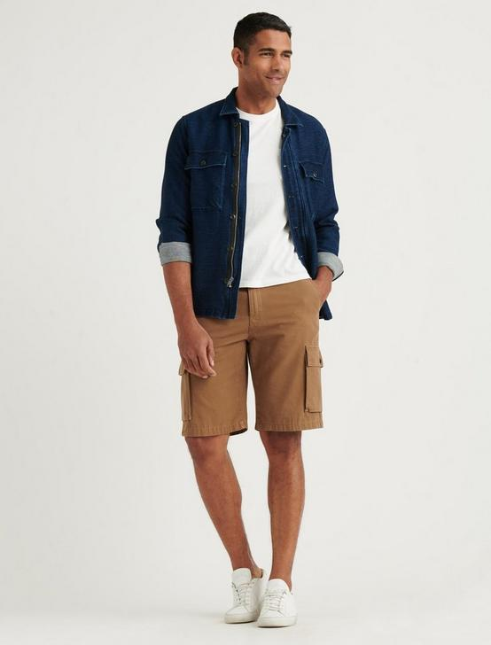 SATURDAY STRETCH LONG CARGO SHORT, BUZZARD BROWN, productTileDesktop
