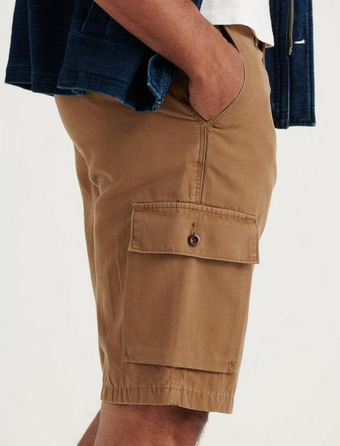 SATURDAY STRETCH LONG CARGO SHORT, BUZZARD BROWN