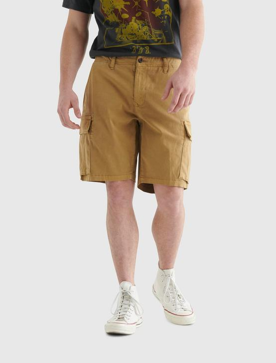STRETCH CARGO SHORT, DULL GOLD, productTileDesktop