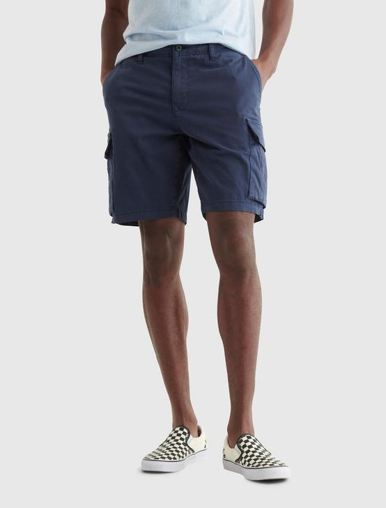 STRETCH CARGO SHORT, BLACK IRIS, productTileDesktop