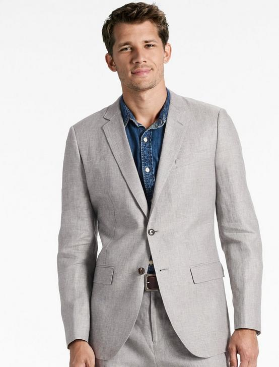 Jack Linen Suit Jacket, GREY, productTileDesktop