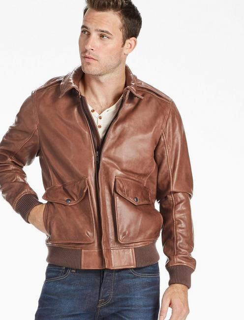 1aac2293d Northridge Leather Bomber Jacket