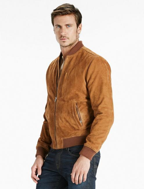 3f1a8b4e9 Suede Bomber Jacket