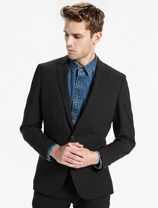 Ace Peak Lapel Suit Jacket, BLACK, productTileDesktop