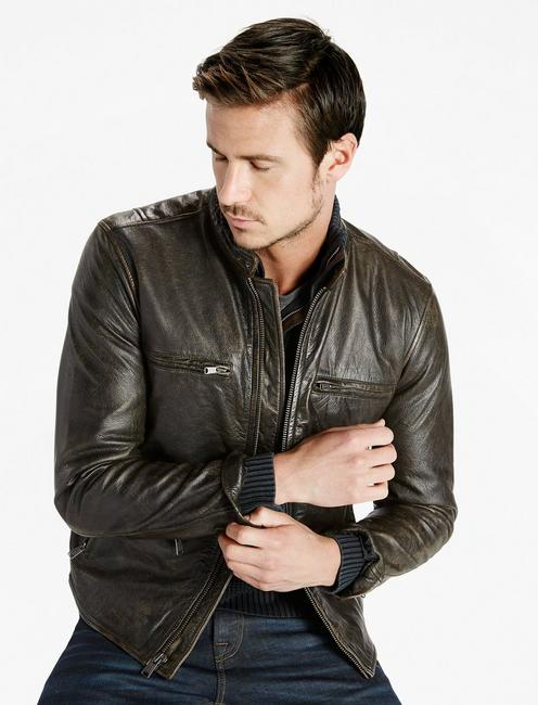 Classic Bonneville Leather Jacket,