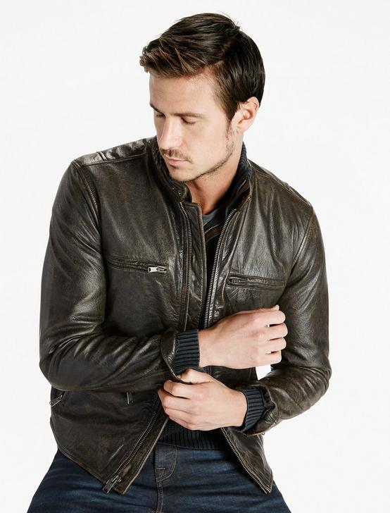 Classic Bonneville Leather Jacket, BLACK, productTileDesktop