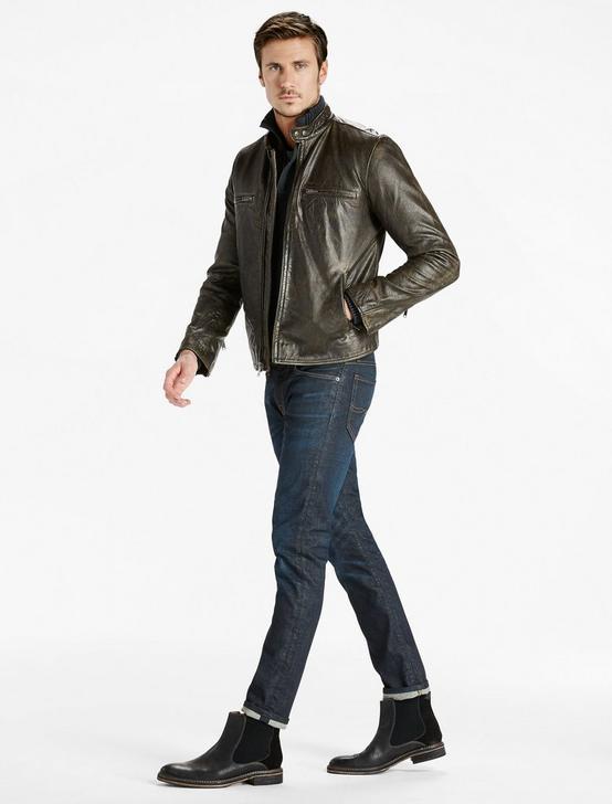 Classic Bonneville Leather Jacket, BLACK, productTileDesktop