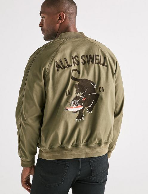 EMBROIDERED SOUVENIR JACKET, IVY GREEN