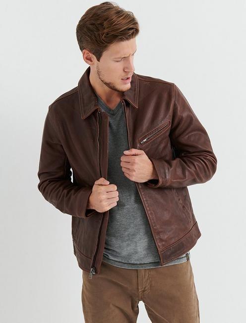AVIATOR LEATHER JACKET,