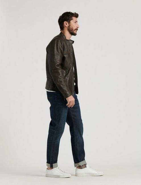 LEATHER BONNEVILLE JACKET, BLACK