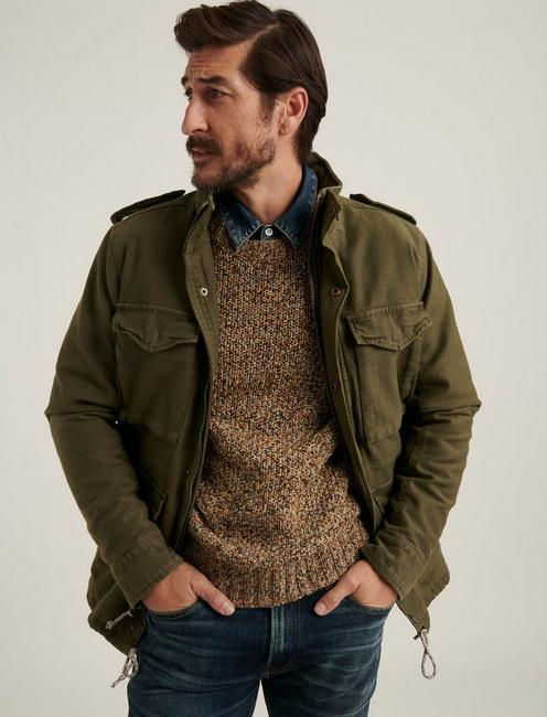 M65 FIELD JACKET WITH REMOVEABLE SHERPA, BURNT OLIVE