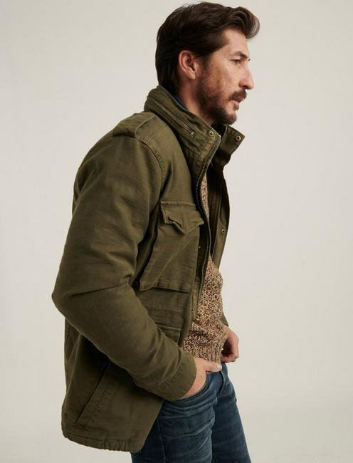 M65 FIELD JACKET WITH REMOVABLE SHERPA, BURNT OLIVE