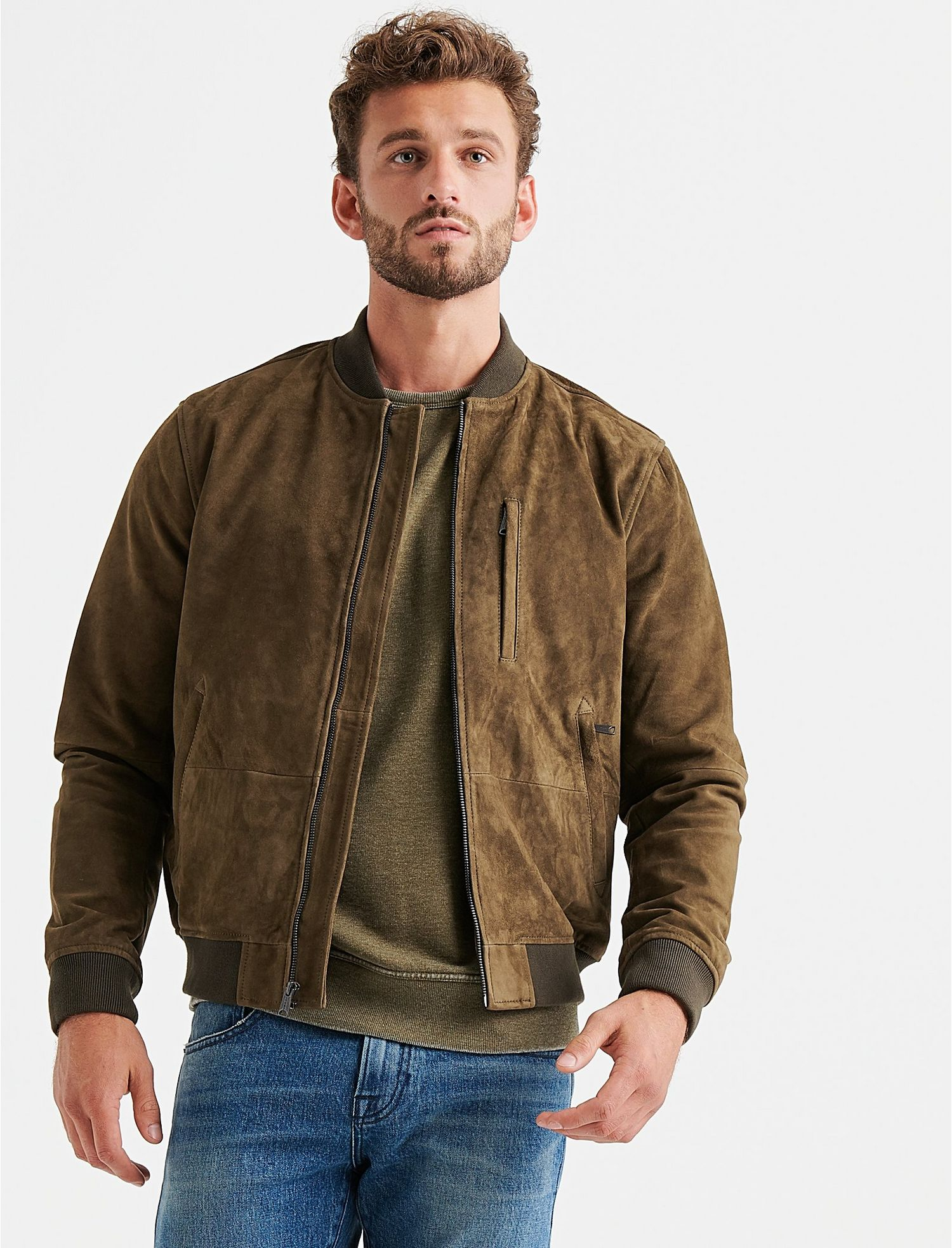 47a9ae018 SUEDE BOMBER JACKET - Lucky Brand - Canada
