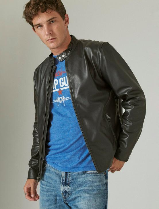 CLEAN LEATHER BONNEVILLE JACKET, #001 BLACK, productTileDesktop