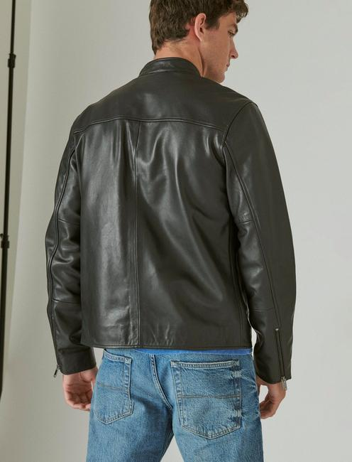 CLEAN LEATHER BONNEVILLE JACKET, #001 BLACK