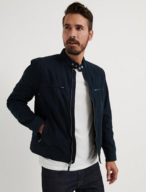 WAXED BONNEVILLE JACKET, #437 NAVY