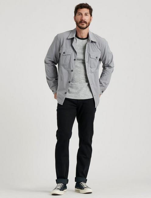 COZY LINED SHIRT JACKET, FROST GREY