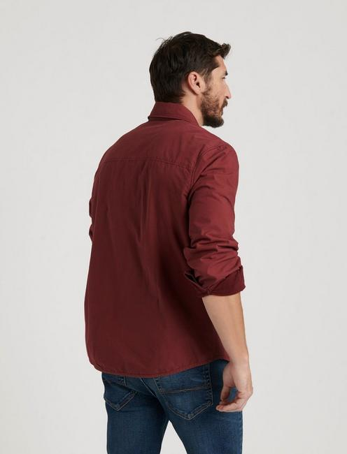 COZY LINED SHIRT JACKET, MADDER BROWN