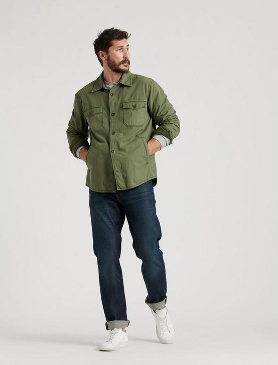 COZY LINED SHIRT JACKET, BRONZE GREEN, productTileDesktop