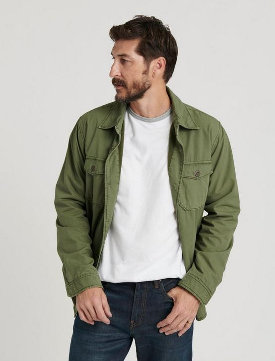 COZY LINED SHIRT JACKET, BRONZE GREEN, productTileDesktop