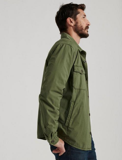 COZY LINED SHIRT JACKET, BRONZE GREEN