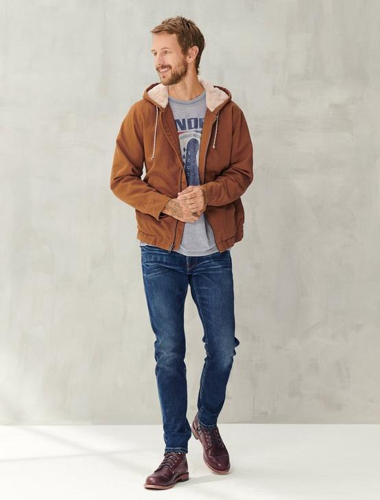 HOODED SHERPA JACKET, TAN, productTileDesktop