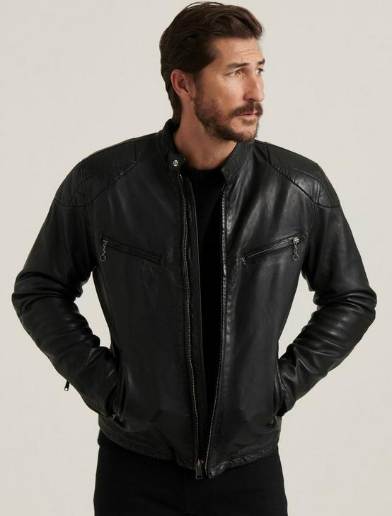 VINCENT LEATHER JACKET, #001 BLACK, productTileDesktop